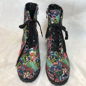 Marvel comic Womens Boots size 8 Preowned